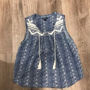 Printed Lucky Brand Top